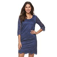 Women's Ronni Nicole Swirl Lace Shift Dress
