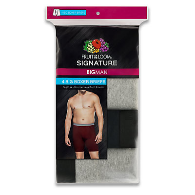 Men's Fruit of the Loom Signature Big Man Assorted Boxer Brief (4-pack)