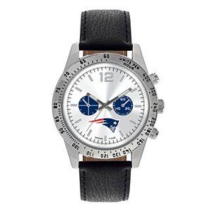 Men's Game Time New EnglandPatriots Letterman Watch