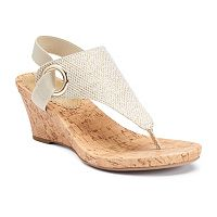 Croft & Barrow® Women's Ortholite Glitter Wedge Sandals