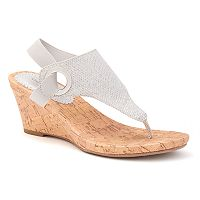Croft & Barrow® Women's Ortholite Glitter Wedge Sandals