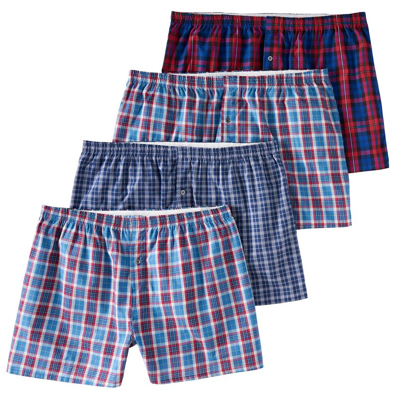 Men's Fruit of the Loom Signature Big Man Boxer (4-pack). Size: 2XB. Red