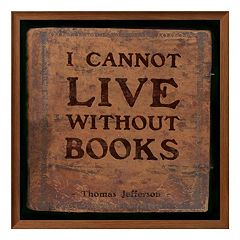 Art.com 'I Cannot Live Without Books' Framed Wall Art