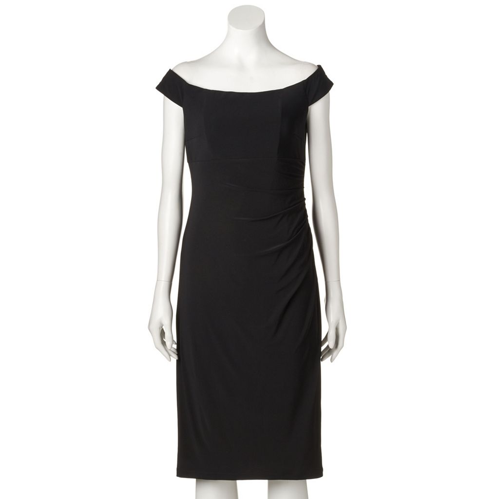 Women's Scarlett Ruched Off-the-Shoulder Sheath Dress