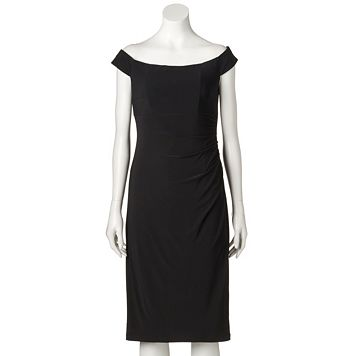Women's Scarlett Ruched Off-the-Shoulder Sheath Dress