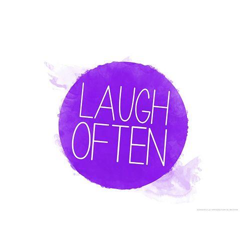 "Art.com ""Laugh Often"" Wall Art Print"