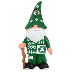 Forever Collectibles Boston Celtics Ugly Sweater Garden Gnome