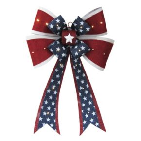 Celebrate Americana Together LED Patriotic Bow Wall Art