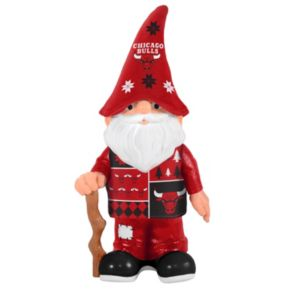 Forever Collectibles Chicago Bulls Ugly Sweater Garden Gnome
