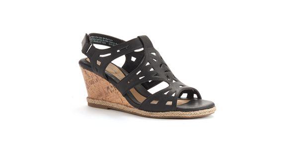 Croft Amp Barrow 174 Women S Ortholite Cork Patterned Wedge Sandals