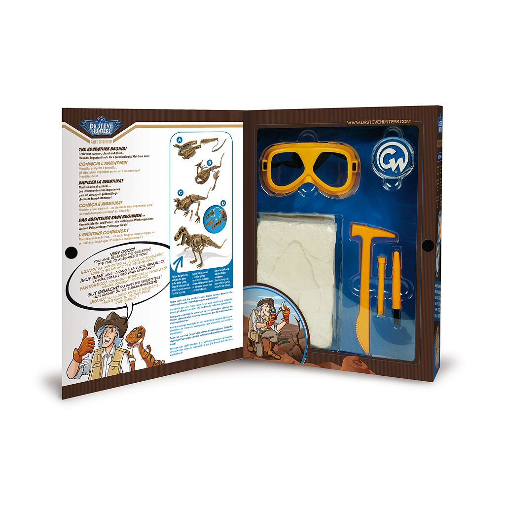 Geoworld Dr. Steve Hunters Paleo Expeditions Tyrannosaurus Rex Dinosaur Excavation Kit