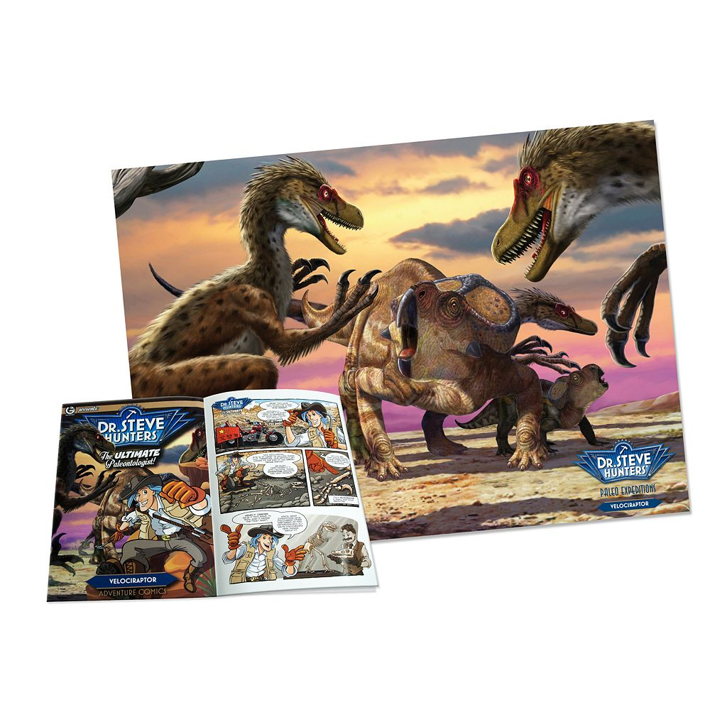 Geoworld Dr. Steve Hunters Paleo Expeditions Velociraptor Dinosaur Excavation Kit