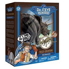 Geoworld Dr. Steve Hunters Paleo Expeditions Triceratops Dinosaur Excavation Kit