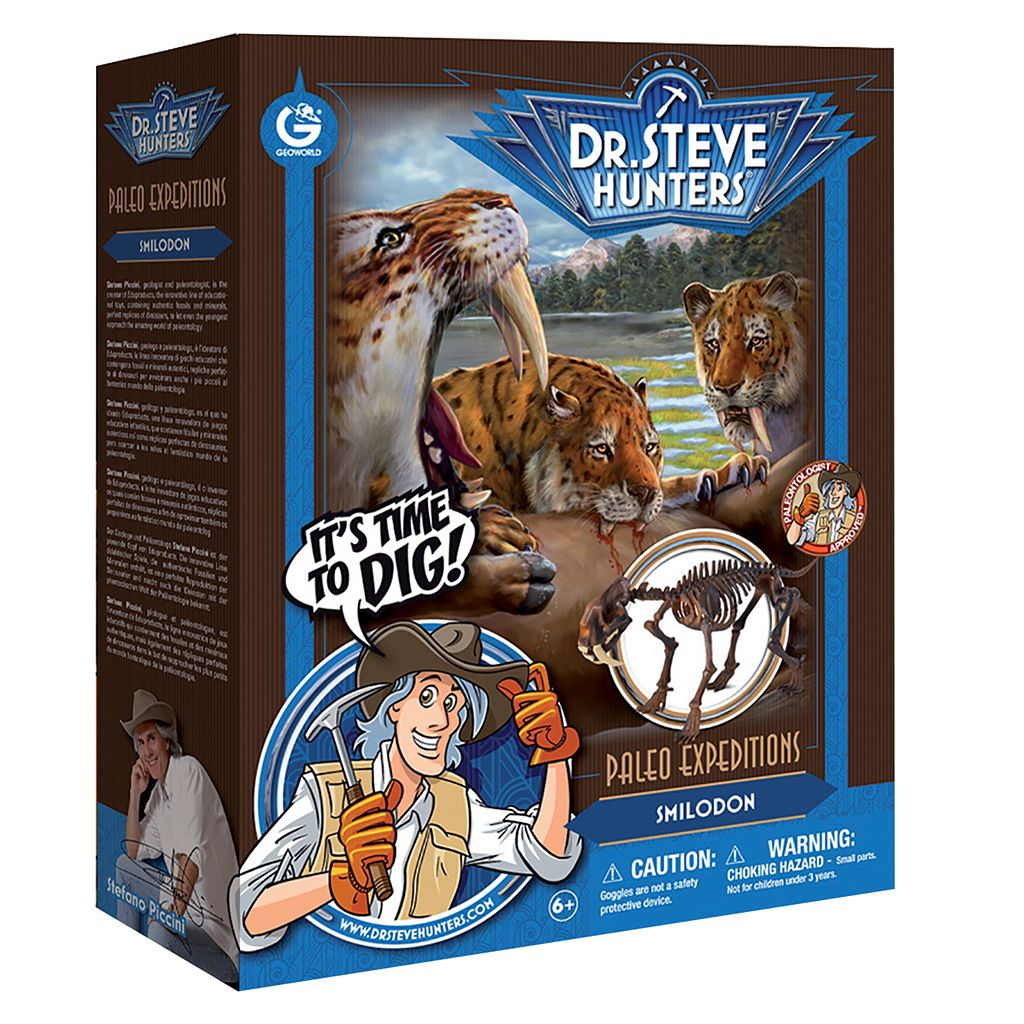 Geoworld Dr. Steve Hunters Paleo Expeditions Smilodon Dinosaur Excavation Kit