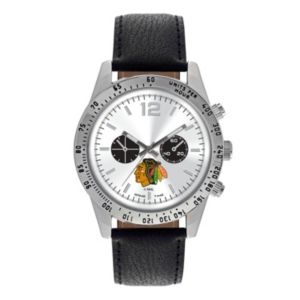 Men's Game Time Chicago Blackhawks Letterman Watch