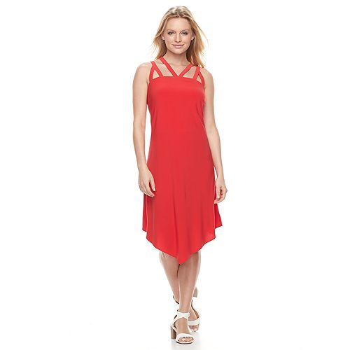 Women's MSK Strappy Asymmetrical A-Line Dress