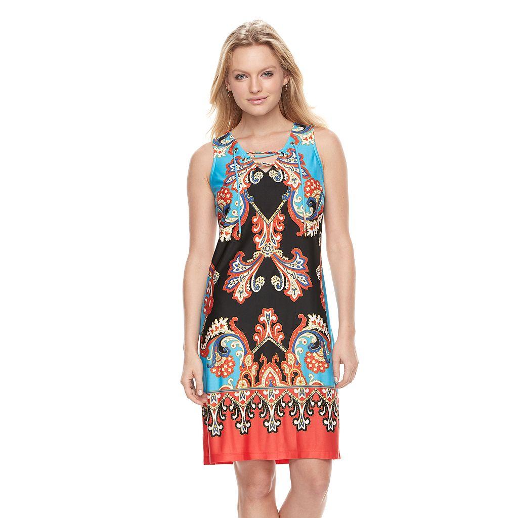 Women's MSK Scroll Shift Dress