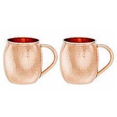Old Dutch 2 pc Hammered Copper Moscow Mule Mug Set