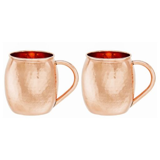 Old Dutch 2-pc. Hammered Copper Moscow Mule Mug Set