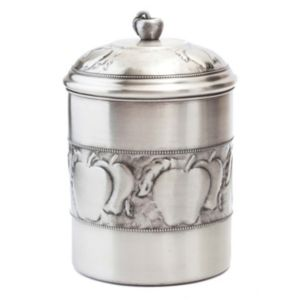 Old Dutch Antique-Embossed Apple Cookie Jar