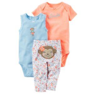 Baby Girl Carter's Bodysuit & Floral Leggings Set