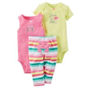 Baby Girl Carter's Bodysuit & Striped Leggings Set