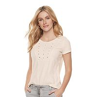Women's SONOMA Goods for Life™ Embroidered Eyelet Tee