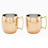 Old Dutch 2 pc Hammered Copper Moscow Mule Set