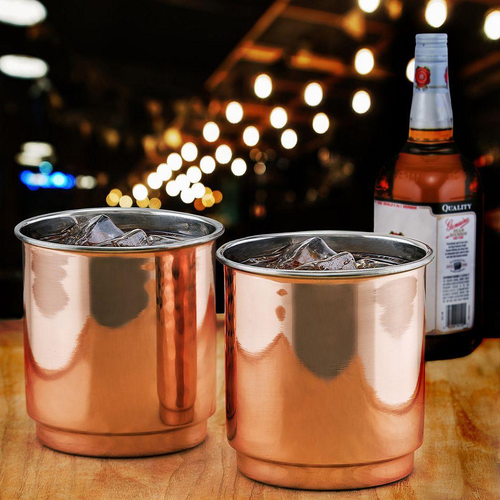 Old Dutch 2-pc. Copper Whiskey Tumbler Set