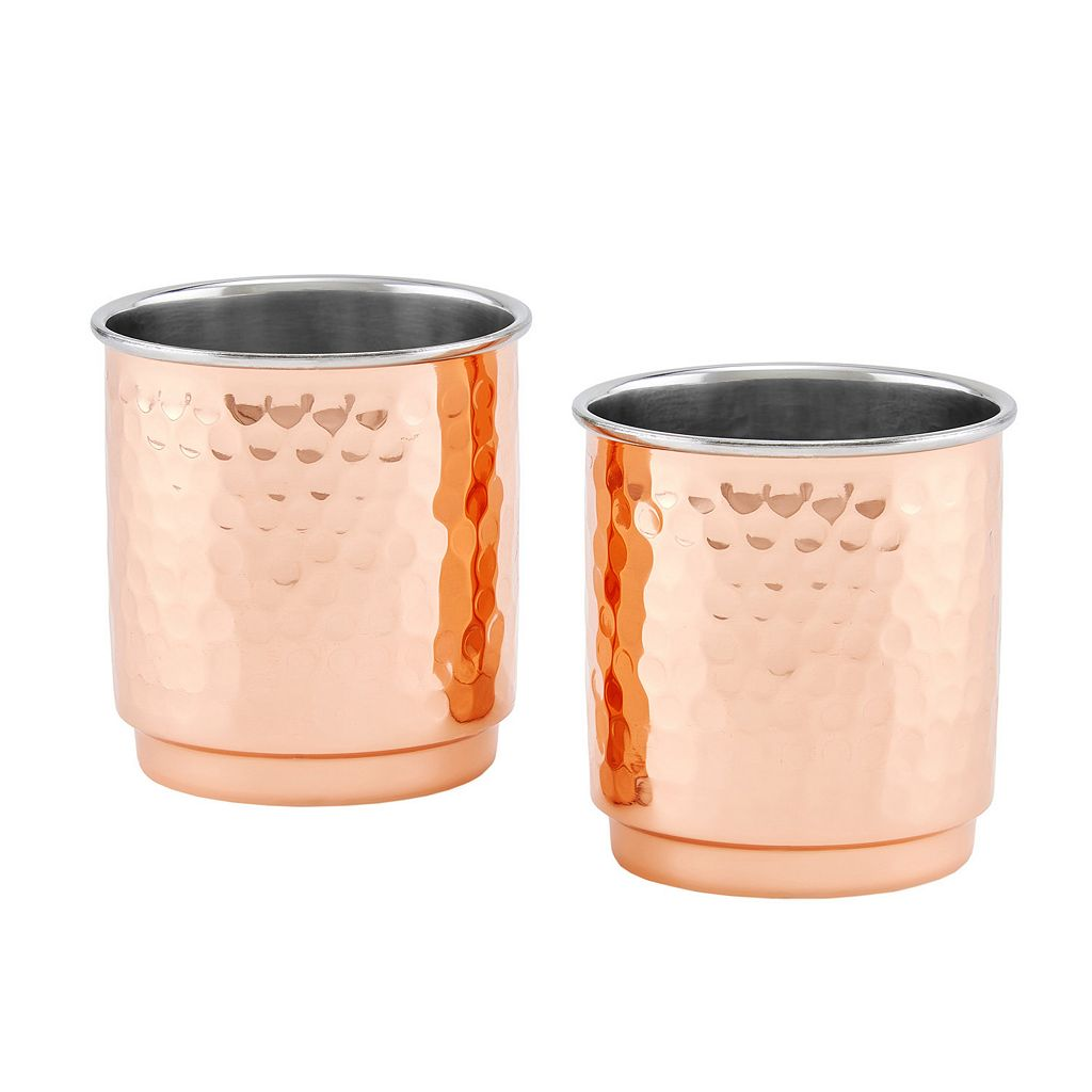Old Dutch 2-pc. Hammered Copper Tumbler Set