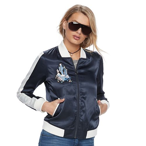 a573c04ef Women's Juicy Couture Satin Bomber Jacket
