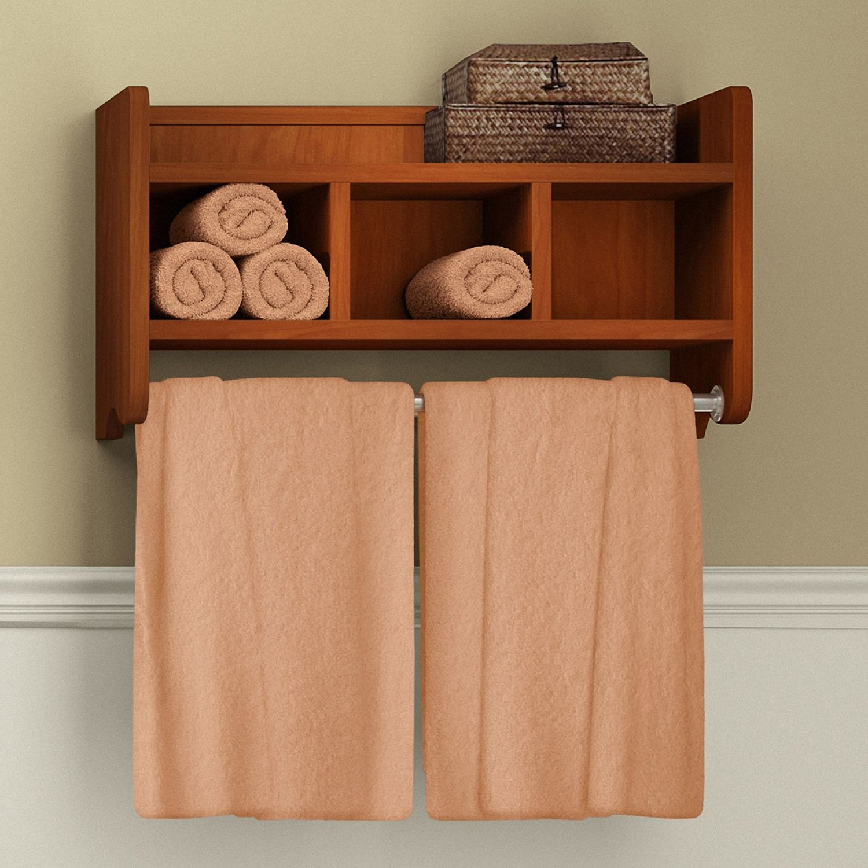 & Bolton Bathroom Storage Cubby u0026 Towel Bar Wall Shelf