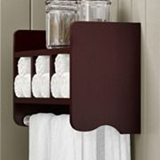 Bolton Bathroom Storage Cubby & Towel Bar Wall Shelf