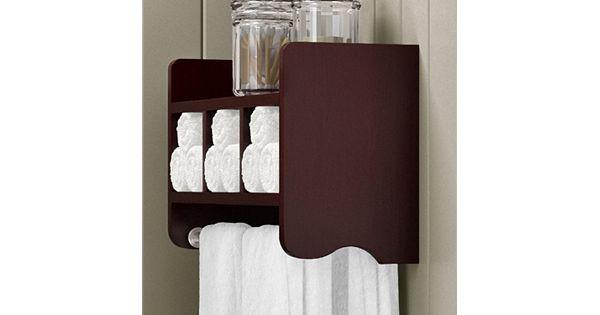 Bolton Bathroom Storage Cubby Amp Towel Bar Wall Shelf