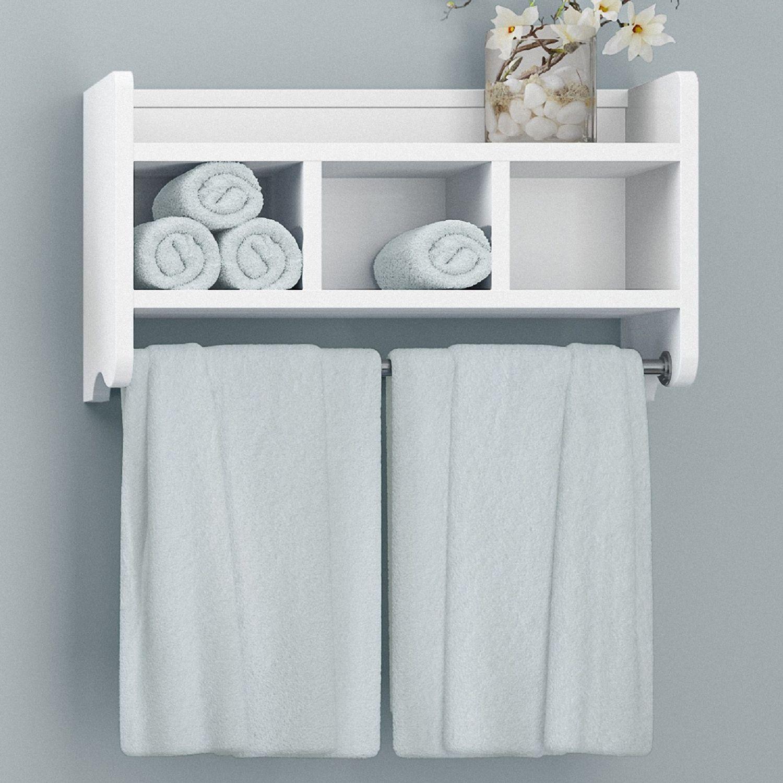 Bathroom White Shelves - Home Interior Designer Today •