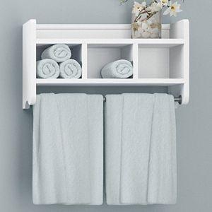 RiverRidge Home X-Frame Bathroom Wall Shelf