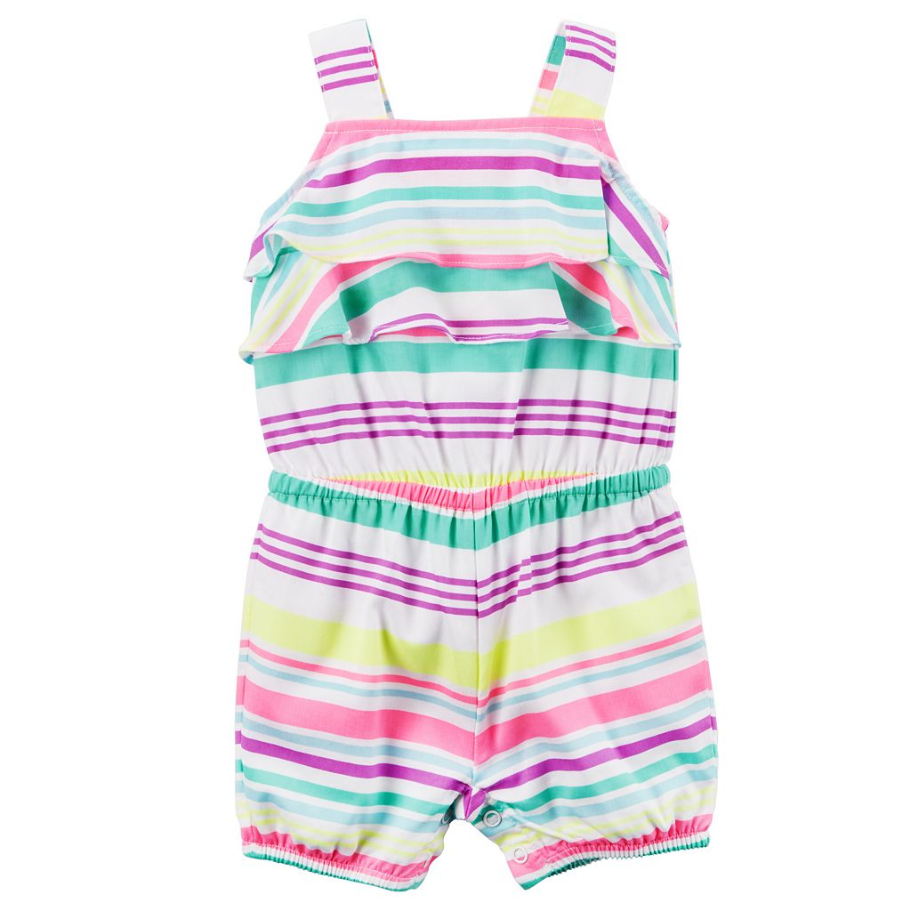 Baby Girl Carter's Striped Ruffle Romper