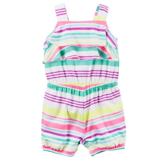 Baby Girl Carter's Striped Ruffle Romper