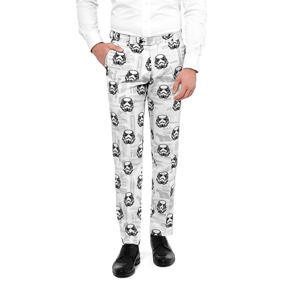 Men's OppoSuits Slim-Fit Star Wars Stormtrooper Novelty Suit & Tie Set