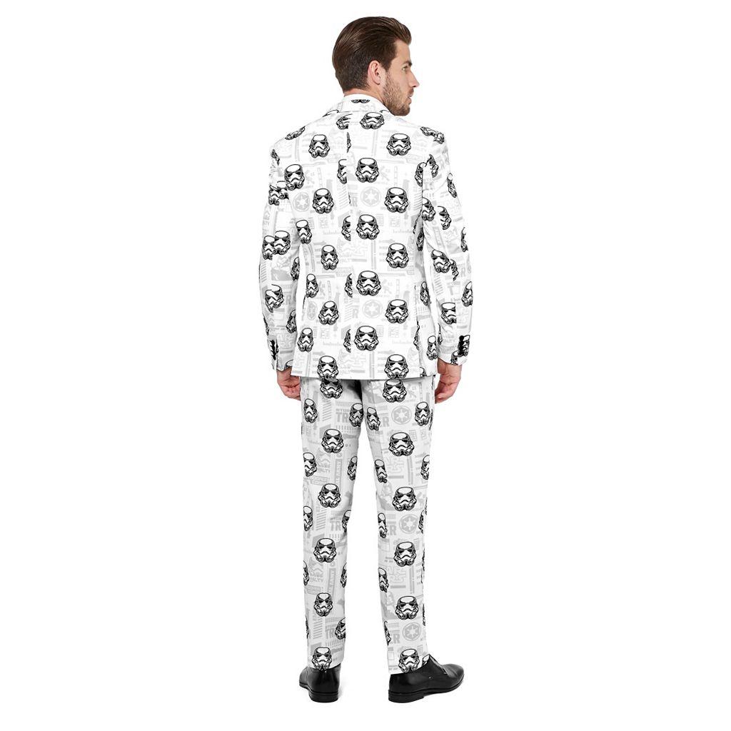 Men's OppoSuits Slim-Fit Star Wars Stormtrooper Novelty Suit & Tie Set