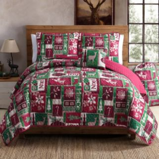 VCNY Holiday Patch Quilt Set