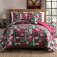 VCNY Holiday Patch Comforter Set
