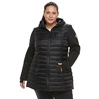 Plus Size Halitech Hooded Puffer Neoprene Jacket
