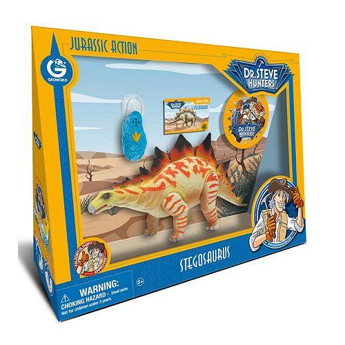 Geoworld Dr. Steve Hunters Large Jurassic Action Stegosaurus Dinosaur