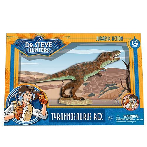 Geoworld Dr. Steve Hunters Medium Jurassic Action T. Rex Dinosaur