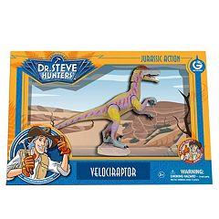 Geoworld Dr. Steve Hunters Medium Jurassic Action Velociraptor Dinosaur
