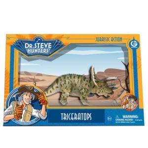 Geoworld Dr. Steve Hunters Medium Jurassic Action Triceratops Dinosaur