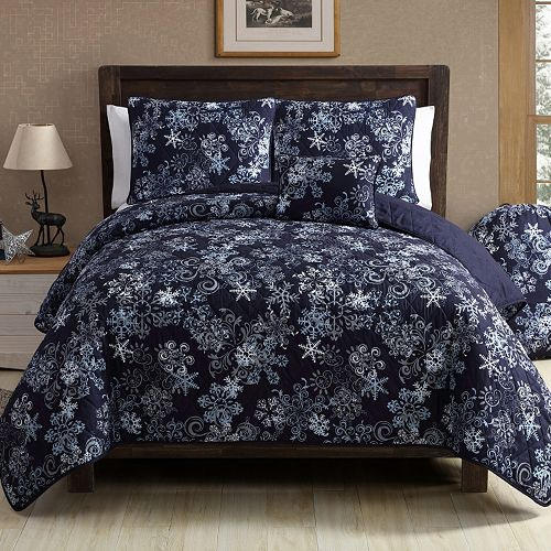 VCNY Scroll Snowflake Quilt Set