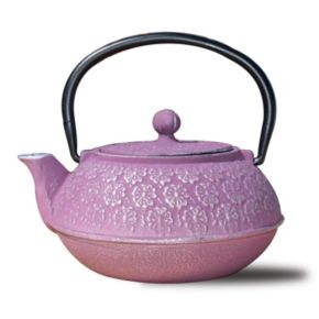 Old Dutch Cast-Iron Cherry Blossom Teapot