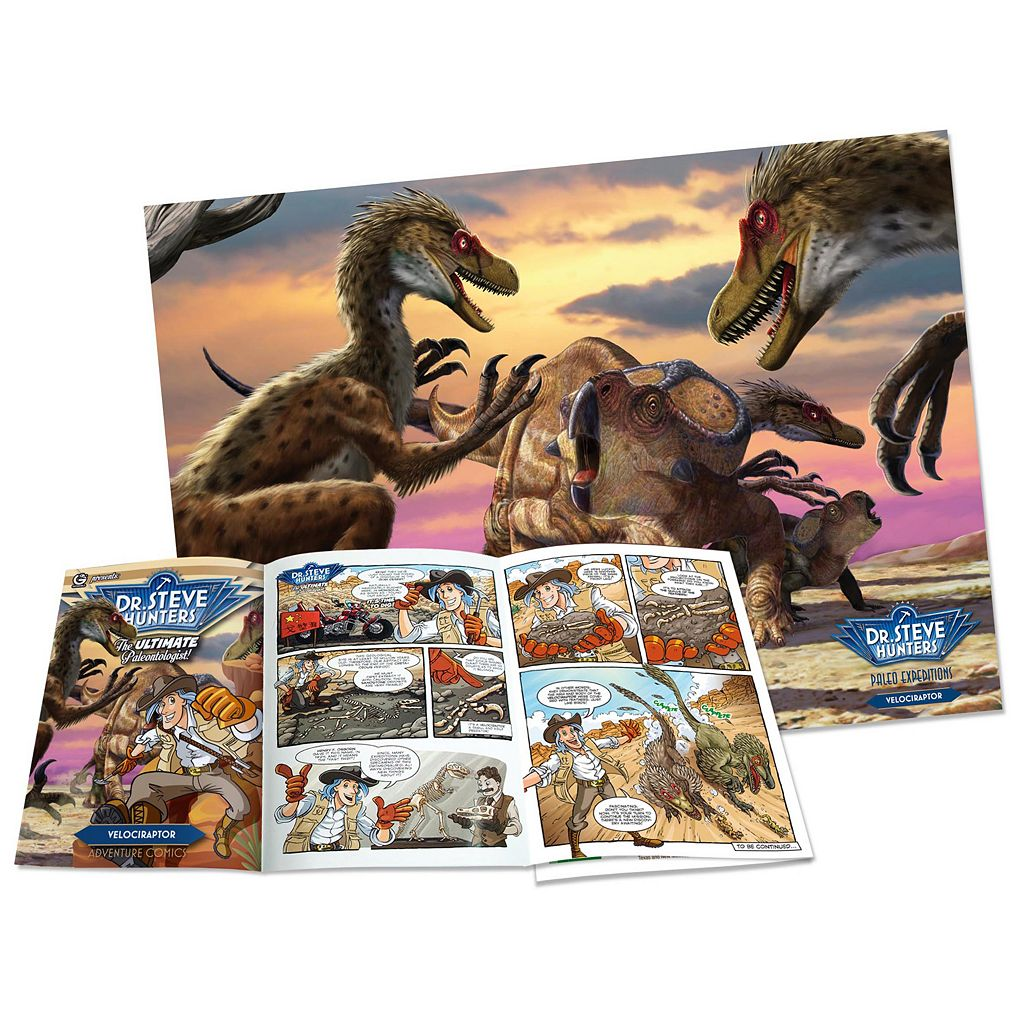 Geoworld Dr. Steve Hunters Paleo Expeditions Kit - Velociraptor Dinosaur